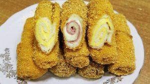 рулетики из тостового хлеба