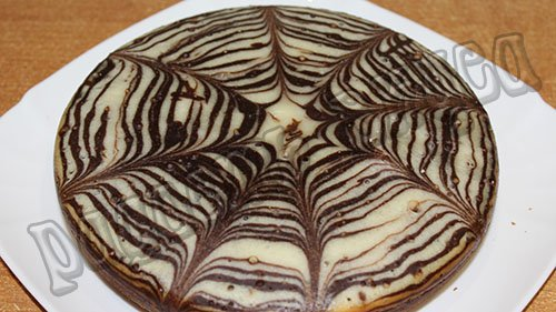 пирог зебра в мультиварке