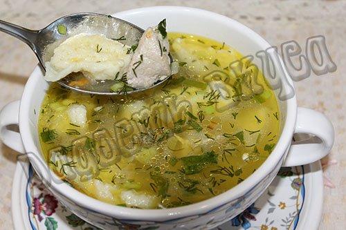 простой суп с клецками