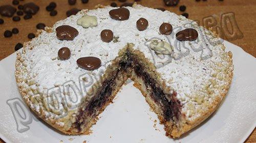 Тертый пирог с вареньем в мультиварке