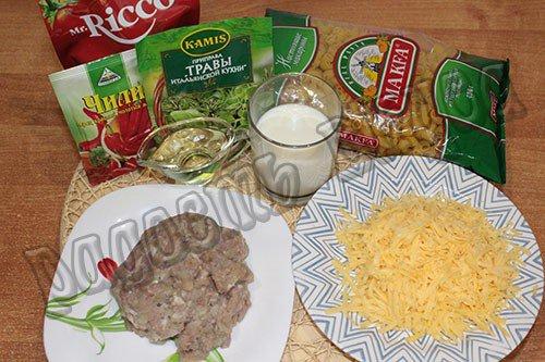 pasta-makarony-s-farshem-v-slivochnom-souse-s-syrom