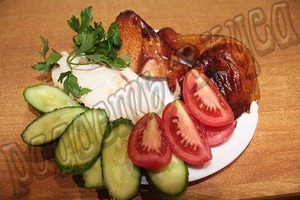 Курица в духовке в медово-горчичном соусе