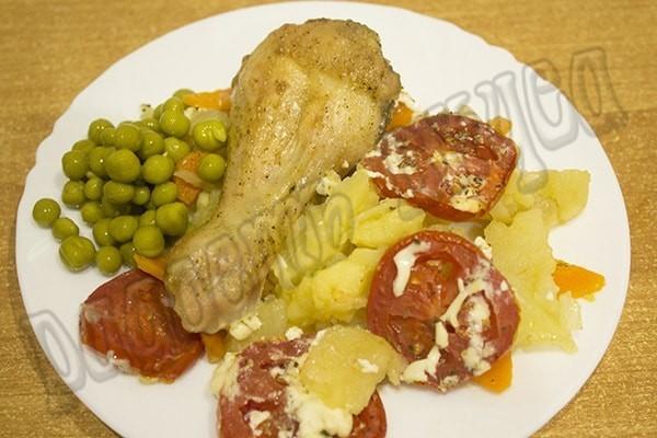 картофель с курицей в духовке простой рецепт