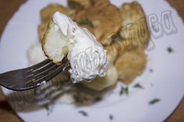 Цветная капуста в кляре, быстро и вкусно