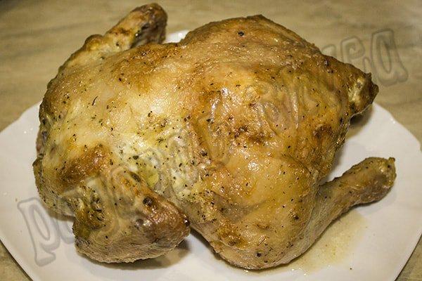 Курица запеченная в духовке под майонезом