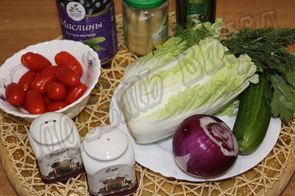 Вкусный и легкий салат с помидорами черри к мясу