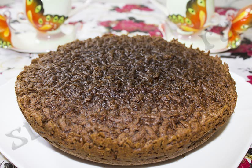 Шоколадно – творожный тертый пирог