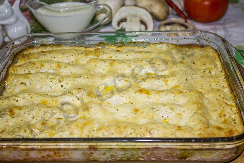 макароны в соусе бешамель