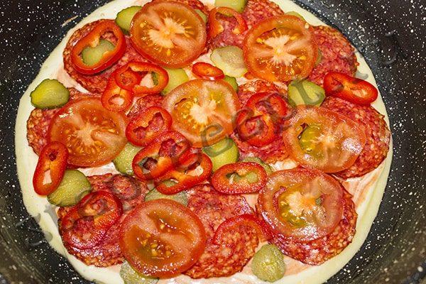 Рецепт пиццы на сковороде в домашних условиях