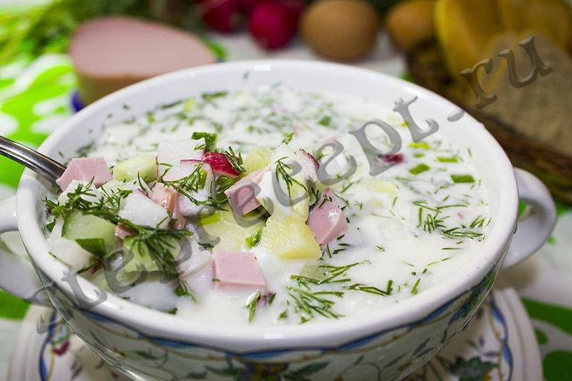 Простой и вкусный рецепт окрошки на воде и квасе