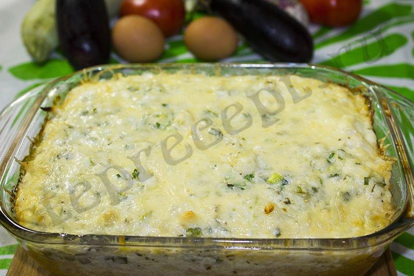 Омлет с цветной капустой в духовке