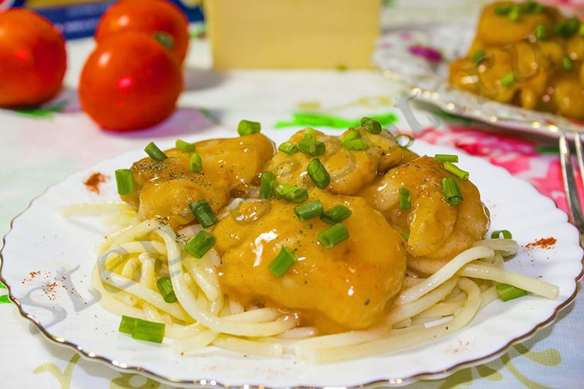 Филе курицы в кляре в кисло-сладком соусе