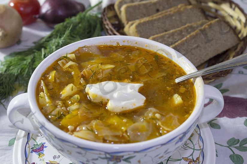 Суп «Чехословацкий» с фаршем и овощами