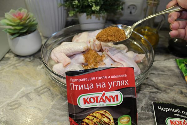 Куриные крылышки для гриля – острые и с соевым соусом маринад