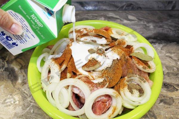 Шашлык на кефире – рецепт вкусного маринада