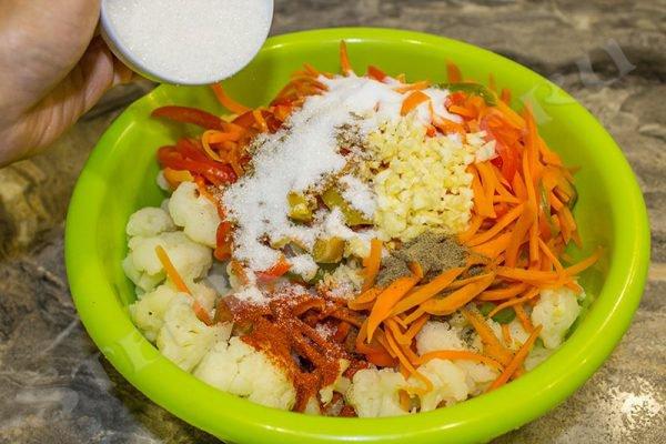 Цветная капуста по-корейски на зиму