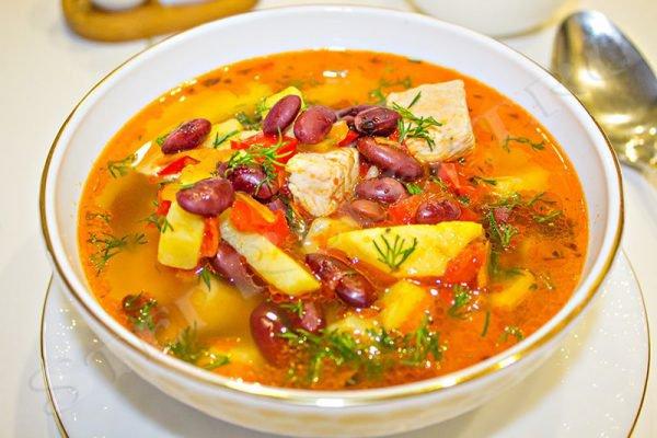 вкусный фасолевый суп