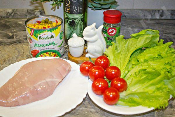 салат мексиканский с курицей