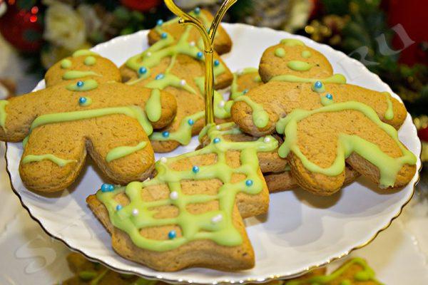 рождественские печенья с глазурью рецепт с фото