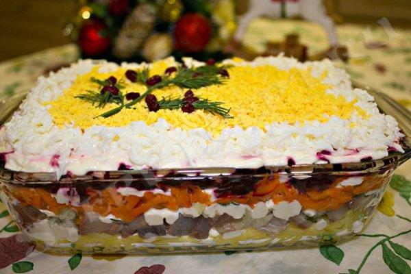 салат селедка под шубой классический