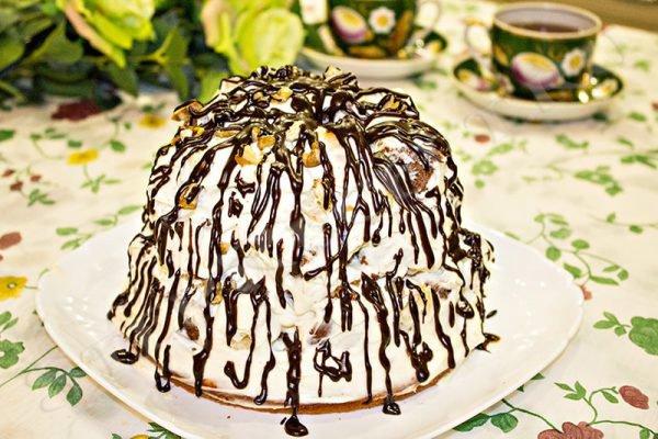 торт графские развалины со сметаной