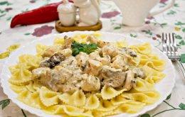 макароны с грибами в сливочном соусе рецепт