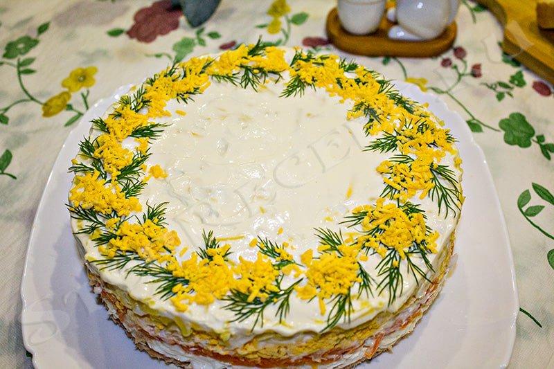 салат мимоза классический рецепт с фото пошагово