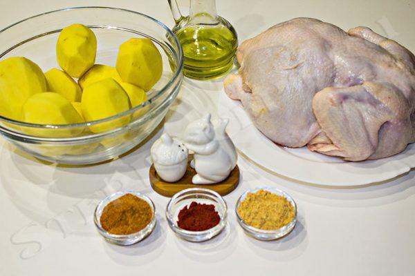 блюда из курицы с картошкой в духовке