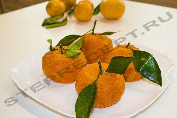 салат мандаринки