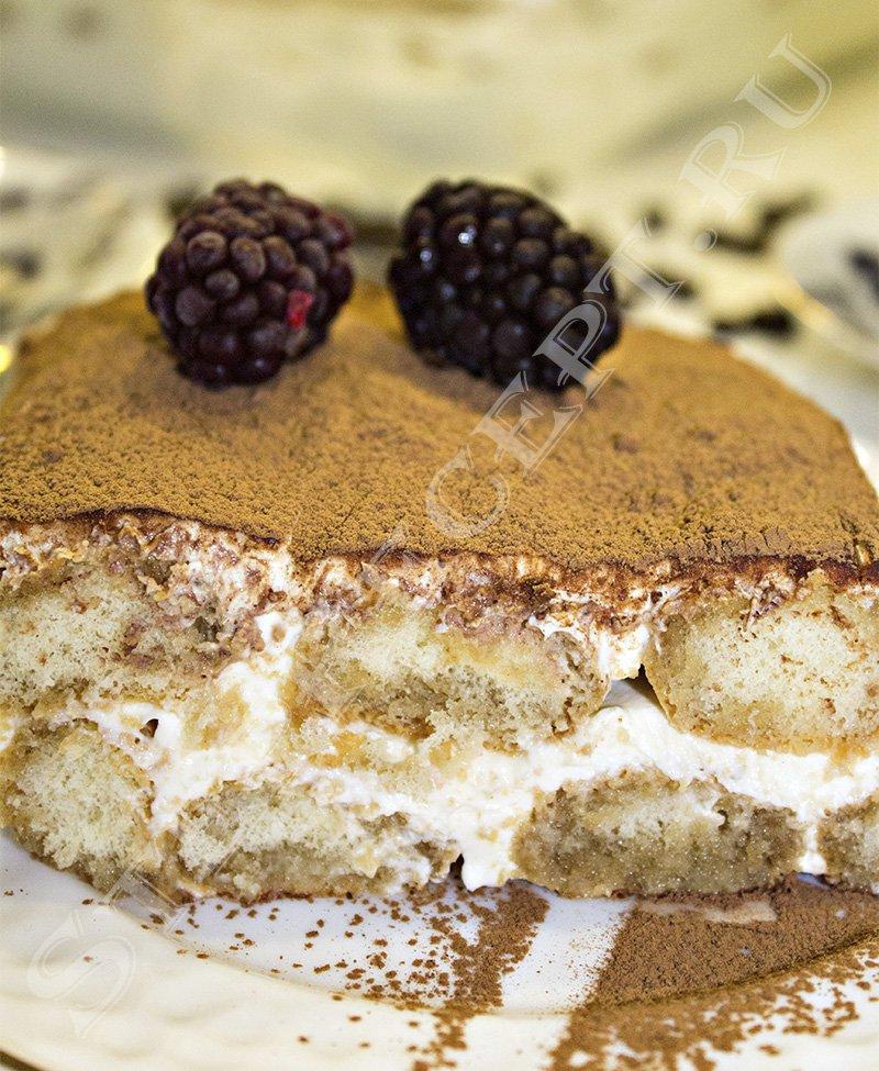 торт тирамису с печеньем савоярди