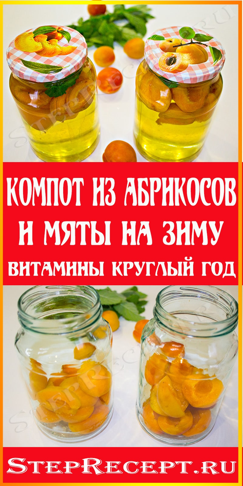 компот из абрикосов в литровых банках