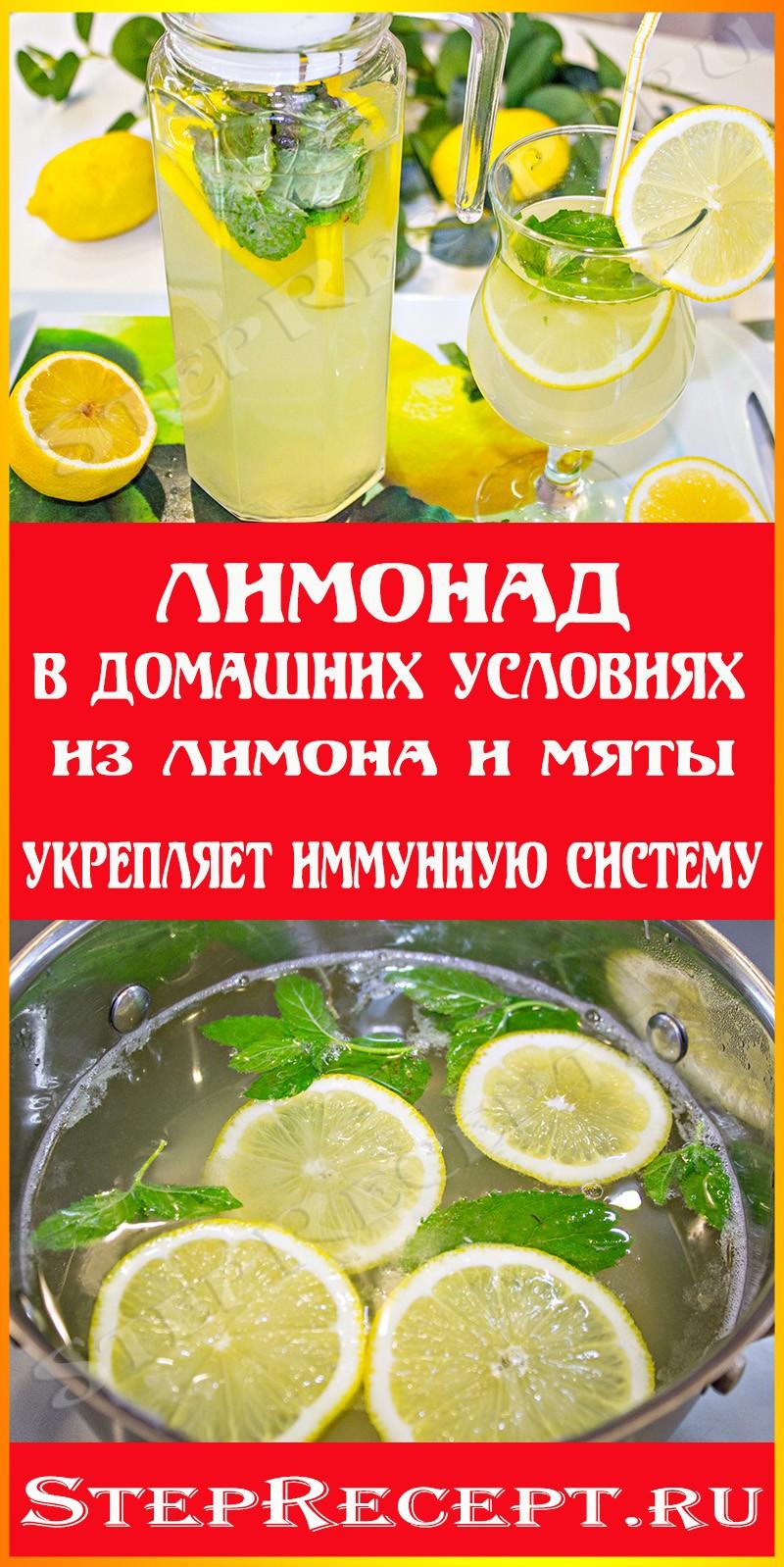 рецепт домашний лимонад из лимонов и мяты