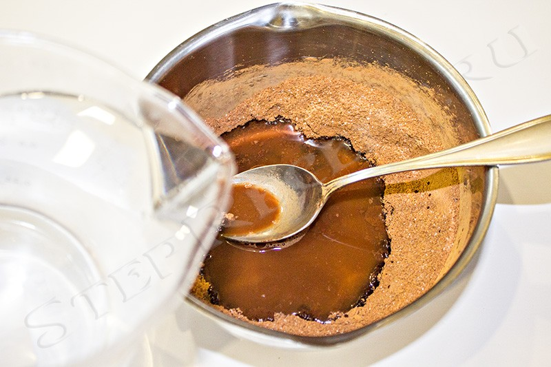 шоколадный кисель на молоке