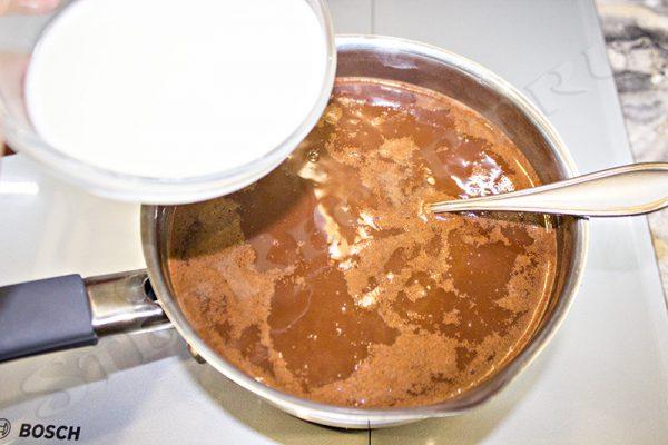 шоколадный кисель с какао