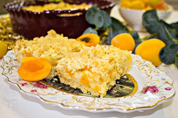 быстрый пирог с абрикосами