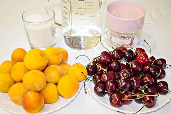 компот из черешни и абрикосов пить сразу