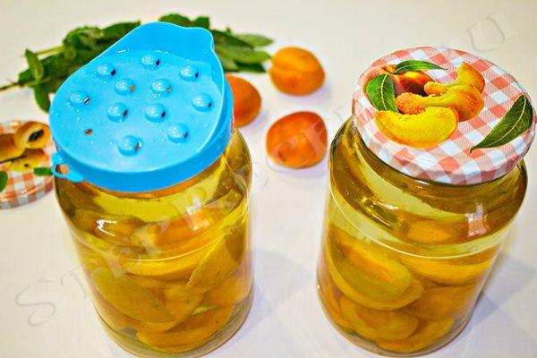 компот абрикосовый с апельсином мятой
