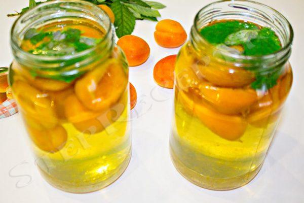 как приготовить компот из абрикосов и мяты