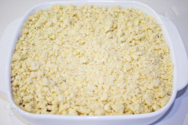 песочный пирог со смородиной рецепт