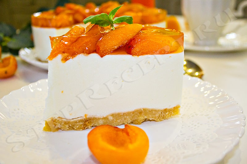 чизкейк без выпечки с абрикосами