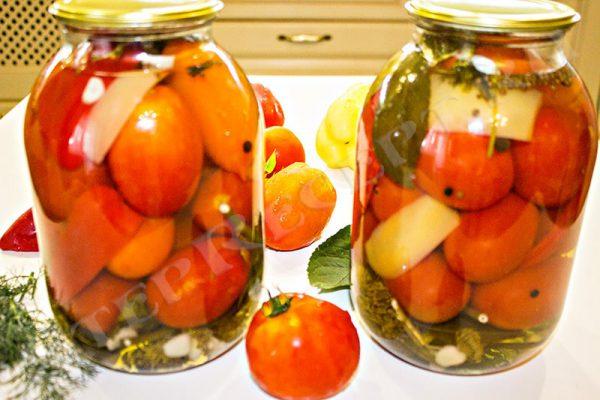 как мариновать помидоры на зиму