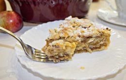 вкусный пирог с яблоками и корицей