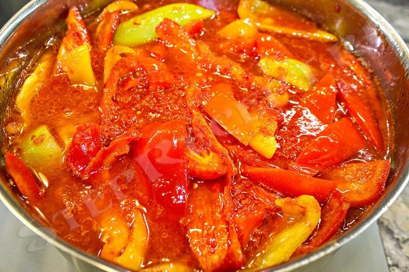 как делать лечо из перца и помидоров