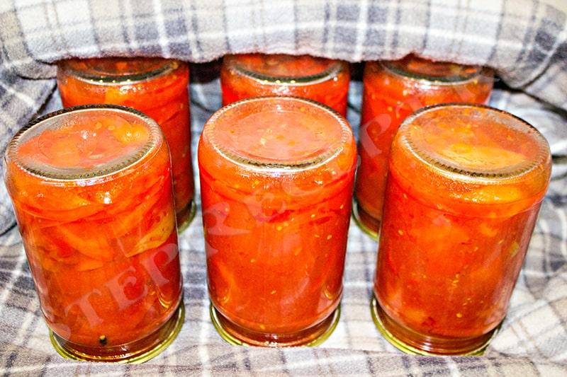 сколько варить лечо из перца и помидор