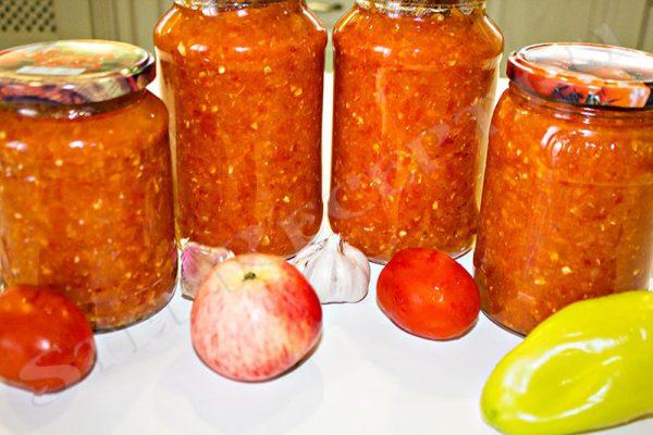 аджика из перца и помидоров на зиму