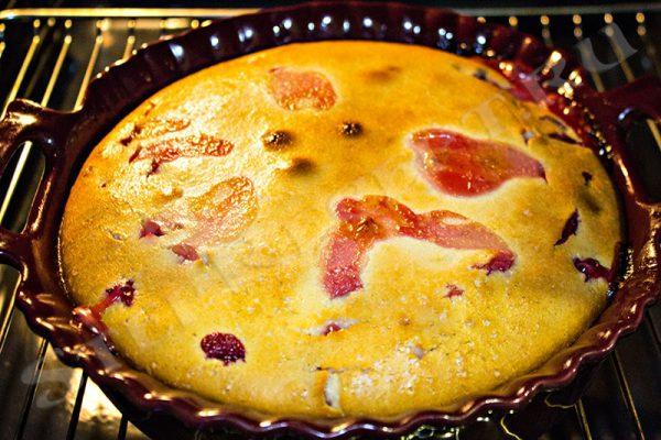 пирог со свежей сливой рецепт