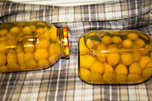 компот сливовый на зиму в 3 литровых