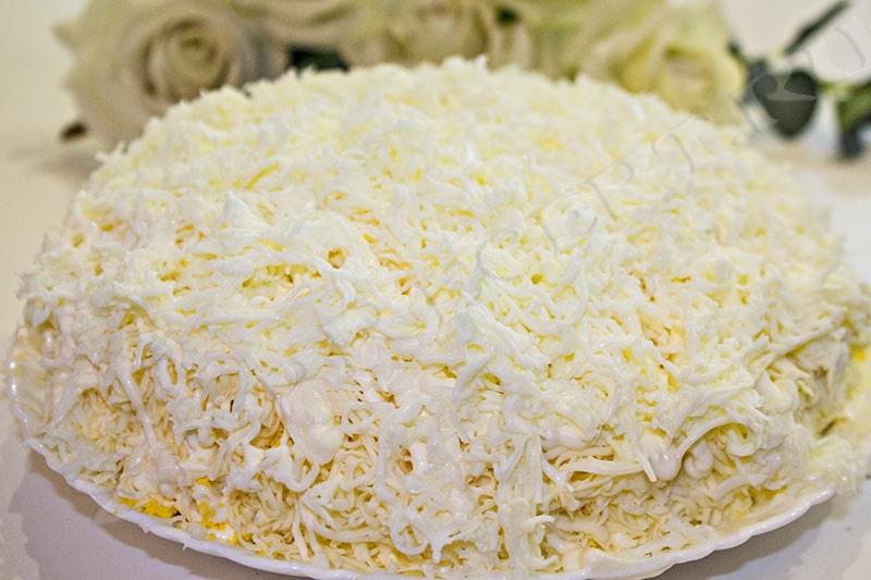салат невеста пошаговый рецепт с фото